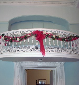 2 Artifical Garlands with Organza- hire