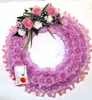 """14"""" Pink Ring Wreath"""